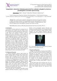 Quantitative detection of plasma-generated free radicals in liquids ...