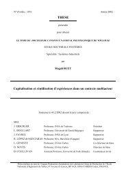 Capitalisation et réutilisation d'expériences dans ... - Polytech'Savoie