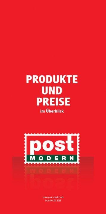 Produkte und Preise 2015