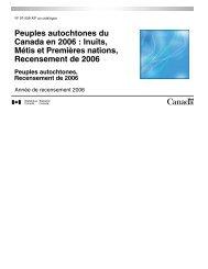 Peuples autochtones du Canada en 2006 : Inuits, Métis et ...