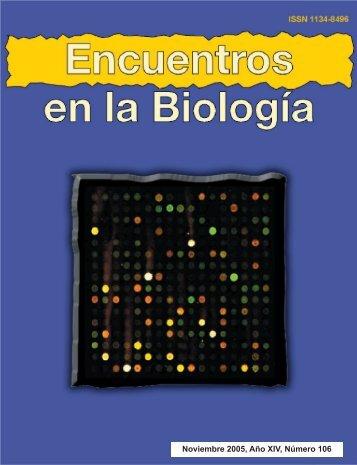 Noviembre 2005, Año XIV, Número 106 - Encuentros en la Biología ...