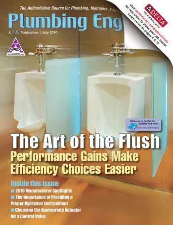 The Art of the Flush - Plumbing Engineer