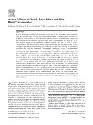 Arterial Stiffness in Chronic Renal Failure and After Renal ...