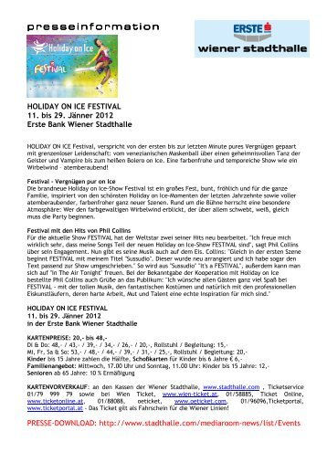 Zahlen, Daten, Fakten – 68 Jahre Holiday on Ice - Wiener Stadthalle
