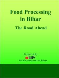 Food Processing in Bihar - The Road Ahead - Industries Department