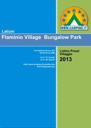 Flaminio Village Bungalow Park Price List - Camping.it