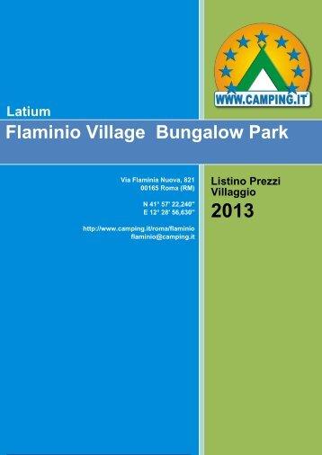 Flaminio Village Bungalow Park Price List - Camping.it