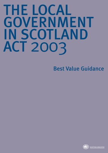 Best Value Guidance - Scottish Government