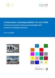 Nachhaltige Mobilität - Landesarbeitsgemeinschaft Agenda 21 NRW ...