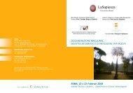 LaSapienza - Agenzia internazionale per la prevenzione della cecità