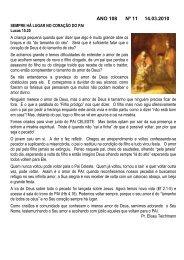 ANO 108 Nº 11 14.03.2010 - Comunidade Evangélica Luterana ...