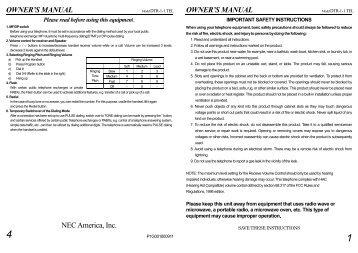 dtr 1hm 1 user guide pdf nec ux5000 rh yumpu com NEC UX5000 Phone Mobile NEC Business Phones