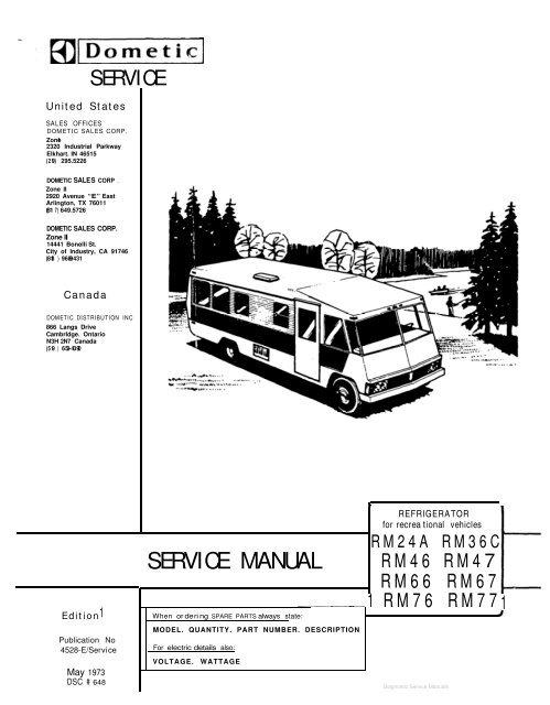dometic rm77 service manual  1021kb