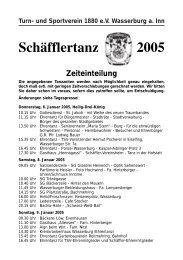 2005 Schäfflertanz Zeiteinteilung - Stadtkapelle Wasserburg am Inn ...