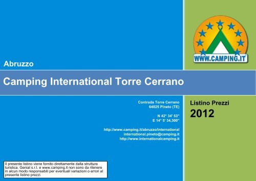 Camping International Torre Cerrano Abruzzo - Camping.it
