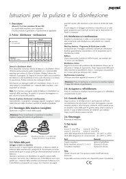 Istruzioni per la pulizia e la disinfezione - Astra Tech