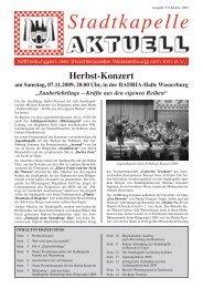 Ausgabe 37 / Okt. 2009 - Stadtkapelle Wasserburg am Inn eV