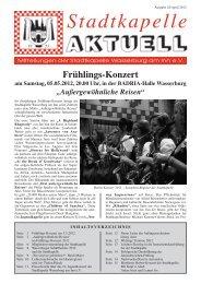 Ausgabe 42 / April 2012 - Stadtkapelle Wasserburg am Inn eV