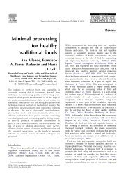 Minimal processing for healthy traditional foods