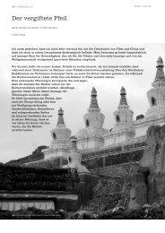 Der vergiftete Pfeil - Tibetischer Buddhismus im Westen