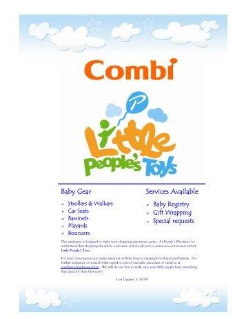 Combi Catalogue MAR08 - Little People's Toys