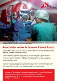 Allgemeine Informationen zur Partnerschaft - Ärzte ohne Grenzen
