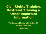 Civil Rights Training, Restraint Training & Other ... - Tantasqua.org