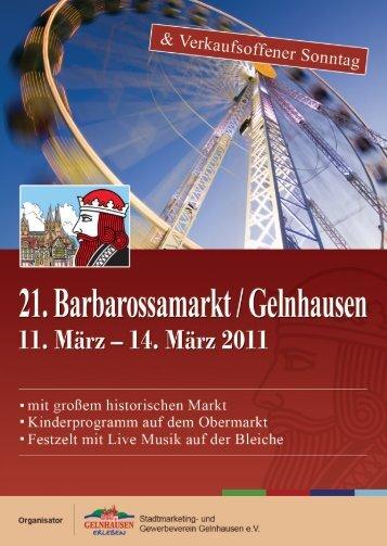 Barbarossamarkt 2011 -  und Gewerbeverein Gelnhausen e.V.