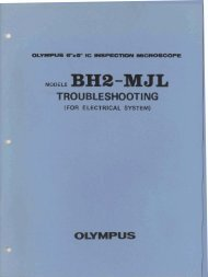 Olympus BH2-MJL electrical troubleshooting manual