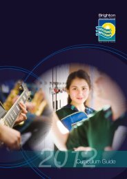 2012Curriculum Guide - Brighton Secondary School