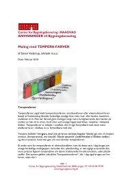 Maling med temperafarver - Center for Bygningsbevaring