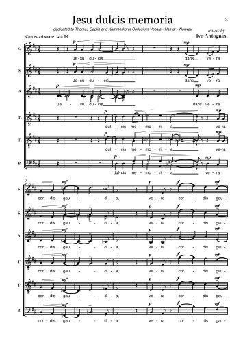 Jesu dulcis memoria - Schola Cantorum on Hudson