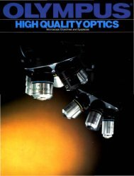 Olympus High Quality Optics - Microscope Objectives and Eyepieces