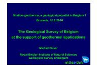 The Geological Survey of Belgium at the support of ... - sbgimr