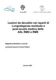 Lesioni da decubito nei reparti di Lungodegenza residuale e post ...