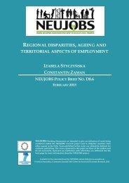 regional disparities, ageing and territorial aspects of ... - Neujobs