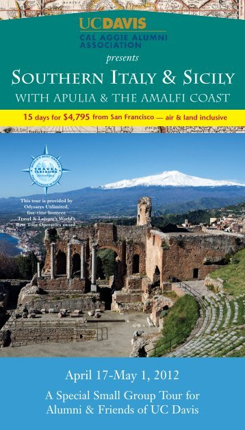 Italy and Sicily Brochure - Cal Aggie Alumni Association - UC Davis