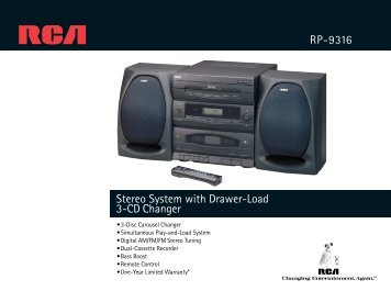Stereo System with Drawer-Load 3-CD Changer RP-9316