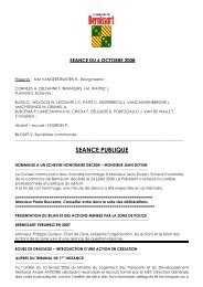 SEANCE DU 29 decembre 2004 - Bernissart