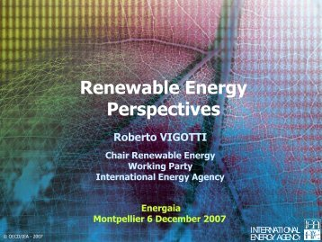 WEO 2007 - European Renewable Energy Council