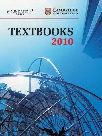 orderform 2010 final.pmd - Cambridge University Press India