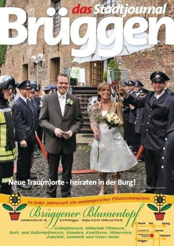 Neue Trau(m)orte - heiraten in der Burg! - Stadtjournal Brüggen