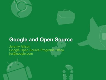 Google and Open Source - LibreOffice Conference