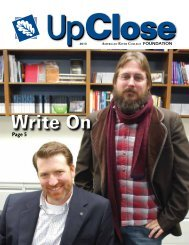 UpClose 2013 Newsletter - American River College - Los Rios ...