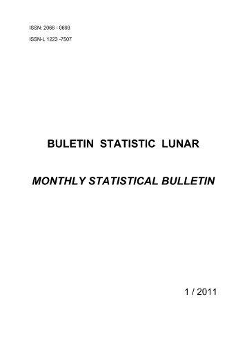 Buletin statistic lunar 1/2011