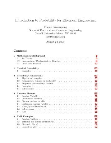 following note on probability and random variables