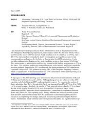 Information Concerning 2010 Clean Water Act Sections 303(d)