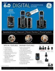 Specifications - Thomson Consumer Electronics