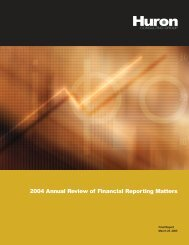 2004 Annual Review of Financial Reporting Matters - Huron ...