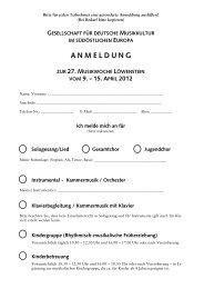 anmeldung - Gesellschaft für Deutsche Musikkultur im südöstlichen ...